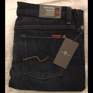 Brand new 7 for all mankind kimmie bootcut jeans